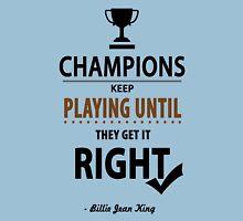 Billie Jean King Tennis player Inspirational Motivational Quotes Unisex T-Shirt