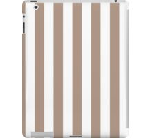 Warm Taupe and White Large Vertical Cabana Tent Stripe iPad Case/Skin