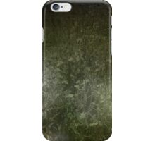 through an empty field, she walked alone. iPhone Case/Skin