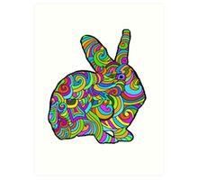 Psychedelic  Bunny   Art Print