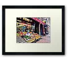 Boston MA - Fruit Stand Framed Print