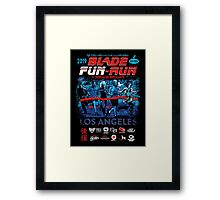 Blade Fun-Run for Displaced Replicants Framed Print
