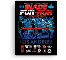 Blade Fun-Run for Displaced Replicants Canvas Print