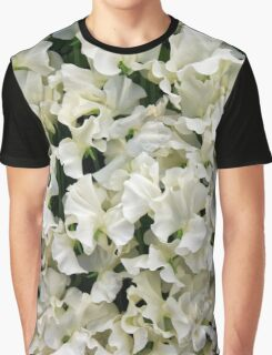 White Sweet Pea Design for T-shirt or other Products Graphic T-Shirt