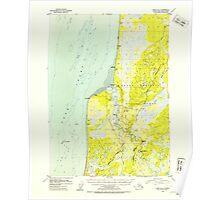USGS TOPO Map Alaska AK Kenai B-4 356596 1952 63360 Poster