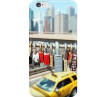 Love locks on Brooklyn Bridge iPhone Case/Skin