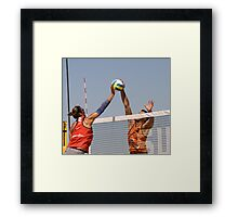 Fight at the Net Framed Print