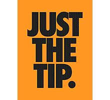 JUST THE TIP. - Chevron Texture Photographic Print