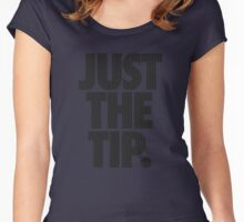 JUST THE TIP. - Chevron Texture Women's Fitted Scoop T-Shirt