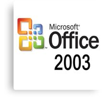 Office 2003 - A Life Canvas Print