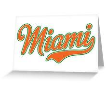 Miami Script Orange Greeting Card