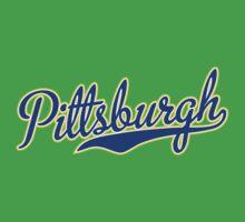 Pittsburgh Script Blue VINTAGE Kids Clothes
