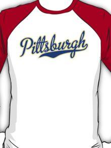 Pittsburgh Script Blue VINTAGE T-Shirt