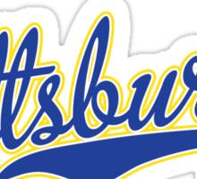 Pittsburgh Script Blue VINTAGE Sticker