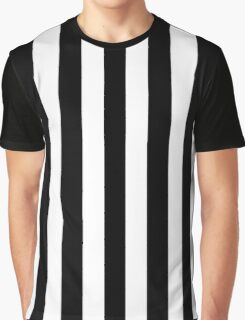 White and Black Large Vertical Cabana Tent Stripe Graphic T-Shirt