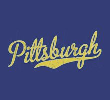 Pittsburgh Script Blue  by Carolina Swagger