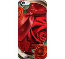 Romantic red roses on red roses iPhone Case/Skin