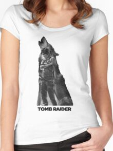 Tomb Raider - Lone Wolf Women's Fitted Scoop T-Shirt