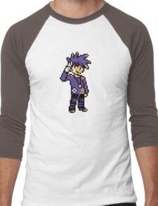 Blue (Trainer) - Pokemon Gold & Silver Men's Baseball ¾ T-Shirt