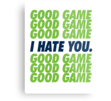 Seahawks Good Game I Hate You Metal Print