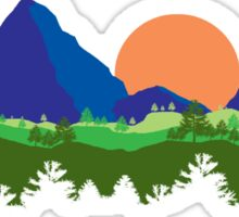 Mountains and Trees Sticker