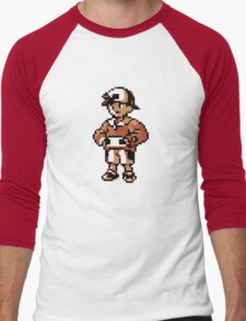 Gold (Trainer) - Pokemon Gold & Silver Men's Baseball ¾ T-Shirt