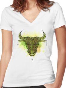 Taurus 4 Women's Fitted V-Neck T-Shirt