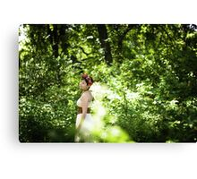A Stroll Through the Forest Canvas Print