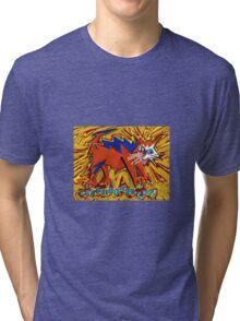 'CAFFEINATED CAT!' Tri-blend T-Shirt