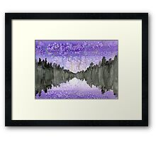 Stars Over Lake Framed Print