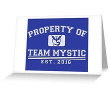 Pokemon Go - Property of Team Mystic Greeting Card