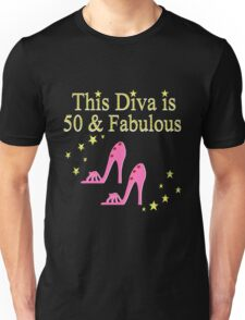 50 AND FABULOUS PINK SHOE LOVER DESIGN Unisex T-Shirt
