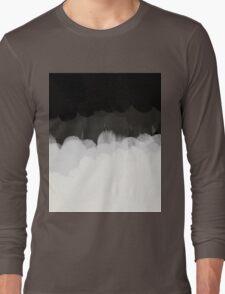 Zen Landscape in black and white Long Sleeve T-Shirt