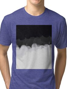 Zen Landscape in black and white Tri-blend T-Shirt
