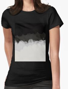 Zen Landscape in black and white Womens Fitted T-Shirt