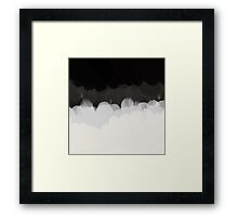 Zen Landscape in black and white Framed Print