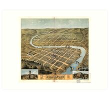 Bird's eye view of Frankfort, Kentucky (1871) Art Print