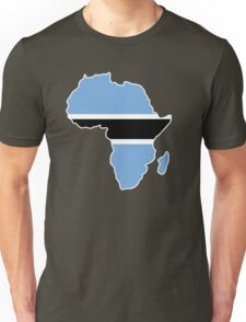 Botswana Flag Africa map t-shirt T-Shirt