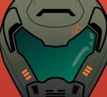 Doom Guy Helmet - RIP TEAR Sticker