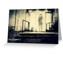Shadows Behind the Theater Greeting Card