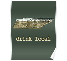 Drink Local - Tennessee Beer Shirt Poster