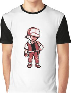 Red (Trainer) - Pokemon Gold & Silver Graphic T-Shirt