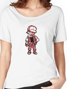 Red (Trainer) - Pokemon Gold & Silver Women's Relaxed Fit T-Shirt