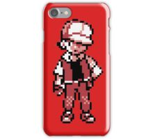 Red (Trainer) - Pokemon Gold & Silver iPhone Case/Skin