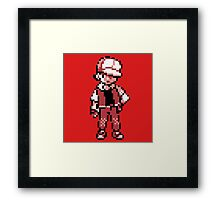 Red (Trainer) - Pokemon Gold & Silver Framed Print