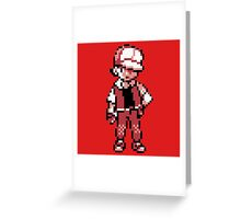 Red (Trainer) - Pokemon Gold & Silver Greeting Card