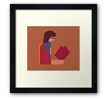 Ms. Lady Reads Framed Print