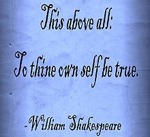 To Thine Own Self Be True by Roz Barron Abellera