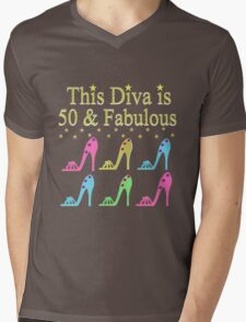 SHOE LOVING 50TH BIRTHDAY DIVA Mens V-Neck T-Shirt