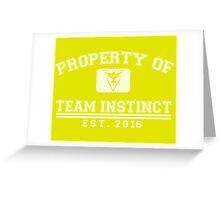 Pokemon Go - Property of Team Instinct Greeting Card
